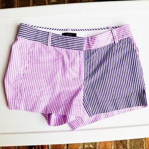 J. Crew Purple Striped Shorts